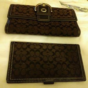Authentic coach wallets